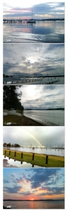 Lake, Macquarie, Lake Macquarie, sunset, water, jetty, boats, rainbow, dingy